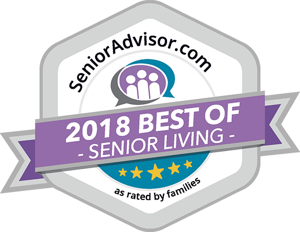 SeniorAdvisor.com Best of 2018 Senior Living Winner